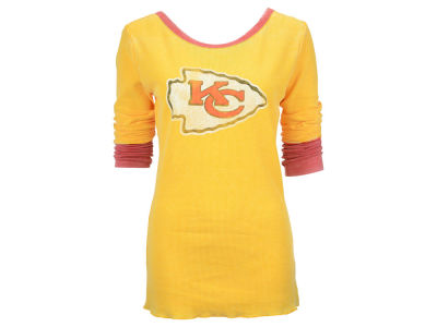 Kansas City Chiefs NFL Women's Distressed Long Sleeve Thermal Shirt
