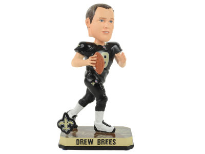New Orleans Saints Drew Brees Springy Logo Bobble