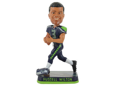 Seattle Seahawks Russell Wilson Springy Logo Bobble