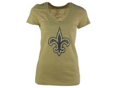 New Orleans Saints NFL Women's Scrum V-Neck T-Shirt