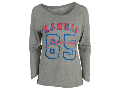Kansas Jayhawks NCAA Women's Screen Long Sleeve T-Shirt