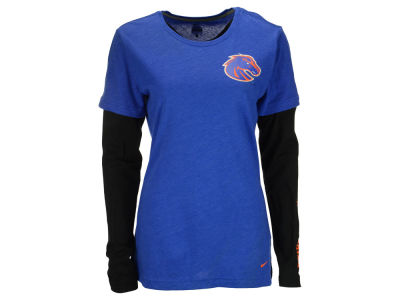 Boise State Broncos Nike NCAA Women's Layered Long Sleeve T-Shirt