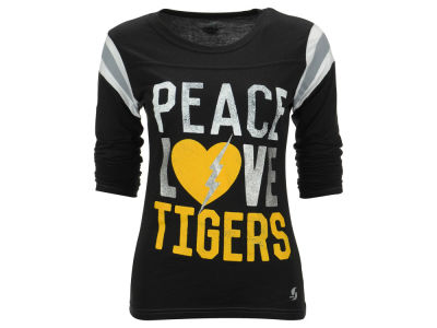 Missouri Tigers NCAA Women's Peace Love Burn Long Sleeve T-Shirt
