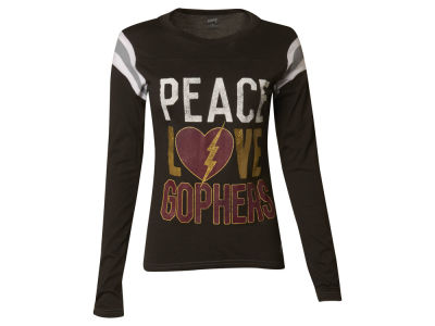 Minnesota Golden Gophers NCAA Women's Peace, Love Long Sleeve Shirt