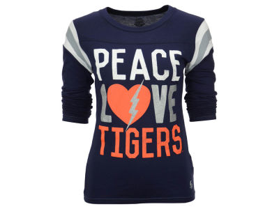 Auburn Tigers NCAA Women's Peace, Love Long Sleeve Shirt