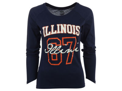 Illinois Fighting Illini NCAA Women's Screen Long Sleeve T-Shirt