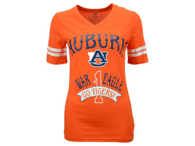Auburn Tigers NCAA Women's Number 1 Half Sleeve T-Shirt