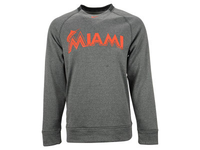 Miami Marlins Nike MLB Men's KO Fleece Crew Sweatshirt