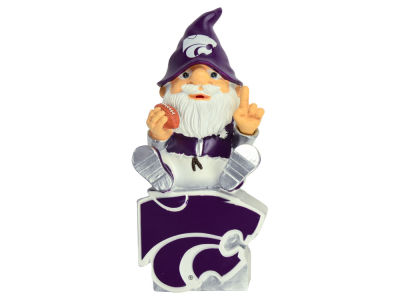 Kansas State Wildcats Gnome Sitting on Logo