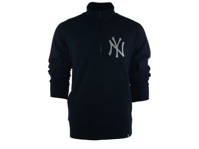 New York Yankees MLB Men's X-Check 1/4 Zip Up Pullover Shirt