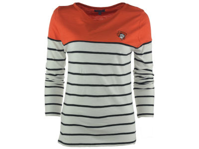Oklahoma State Cowboys NCAA Women's Boat Neck Striped Shirt