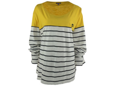 Iowa Hawkeyes NCAA Women's Plus Size Boat Neck Striped Shirt