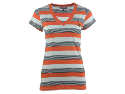 Oklahoma State Cowboys NCAA Women's Striped Tailgate T-Shirt
