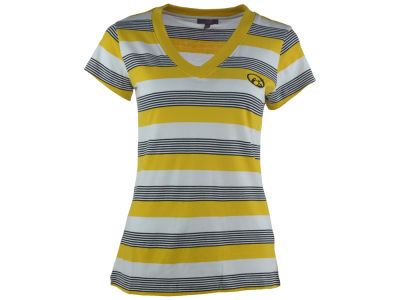 Iowa Hawkeyes NCAA Women's Striped Tailgate T-Shirt