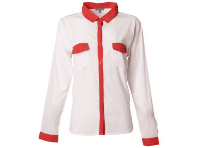 Louisville Cardinals NCAA Women's Colored Placket Button Up Shirt