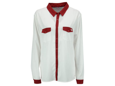 Oklahoma Sooners NCAA Women's Colored Placket Button Up Shirt