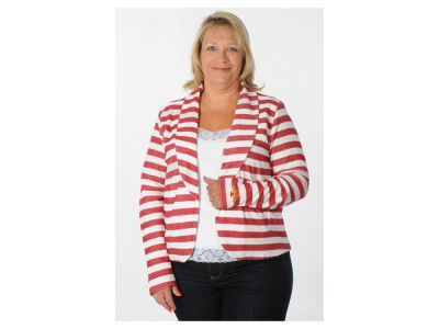 Iowa State Cyclones NCAA Women's Plus Size Fleece Blazer