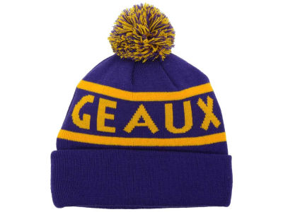 LSU Tigers Top of the World NCAA Slugfest Pom Knit