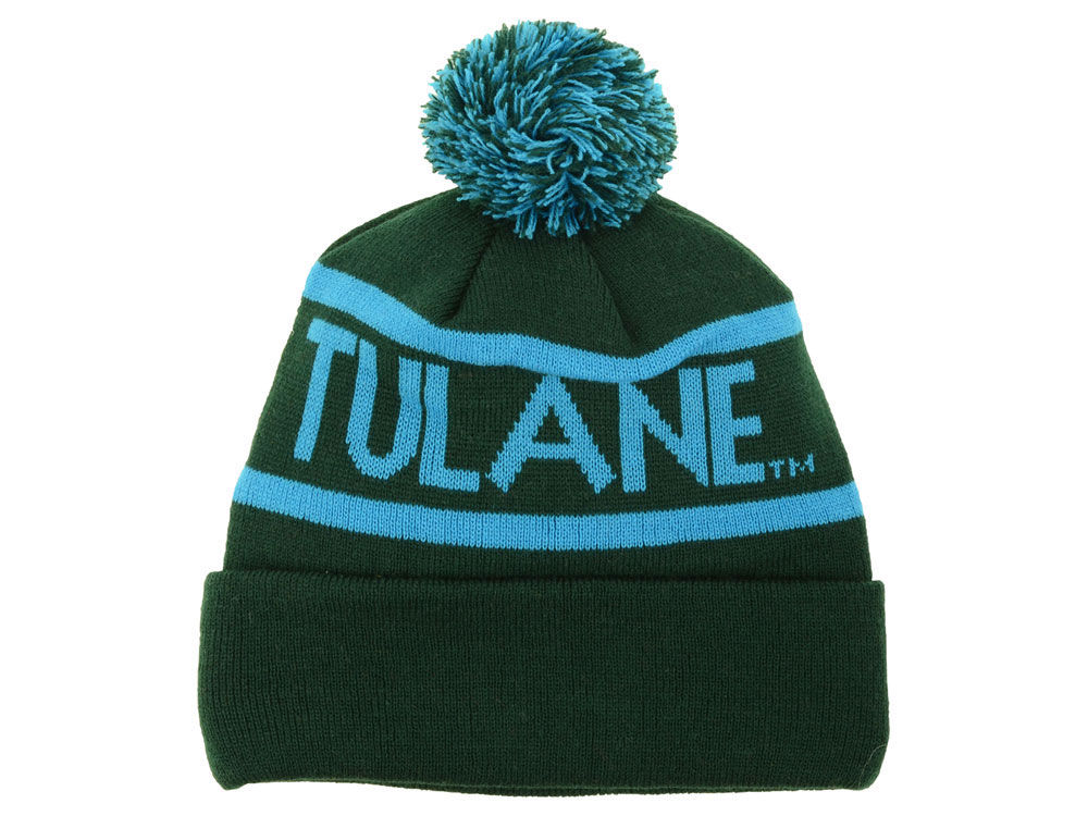 sale retailer 9487d 1afd7 ... cap royal one size 1d56e 4bd0b 0b569  uk tulane green wave top of the  world ncaa slugfest pom knit c836d ffa11