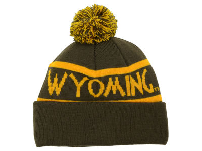Wyoming Cowboys Top of the World NCAA Slugfest Pom Knit