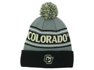 Colorado Buffaloes Top of the World NCAA Charcoal Ambient Pom Knit