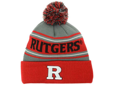 Rutgers Scarlet Knights Top of the World NCAA Charcoal Ambient Pom Knit
