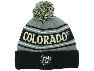 Colorado Buffaloes Top of the World NCAA Youth Charcoal Ambient Pom Knit