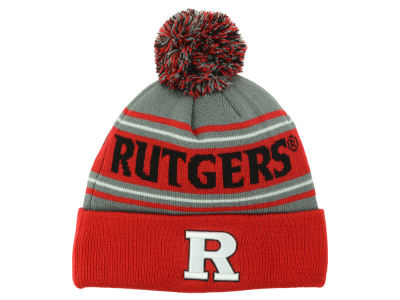Rutgers Scarlet Knights Top of the World NCAA Youth Charcoal Ambient Pom Knit