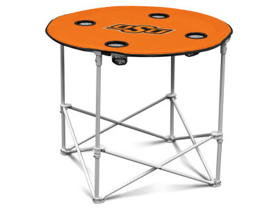 Oklahoma State Cowboys Round Folding Table
