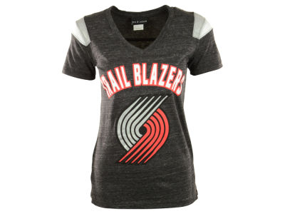 Portland Trail Blazers NBA Womens Shoulder Stripe T-Shirt