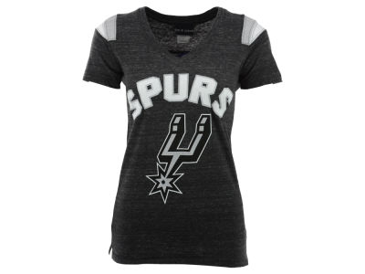 San Antonio Spurs NBA Womens Shoulder Stripe T-Shirt