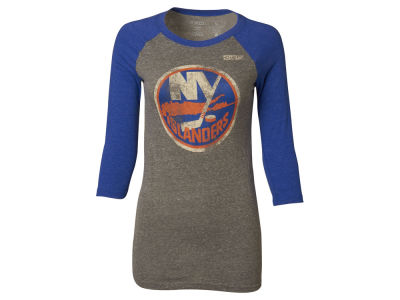 New York Islanders Reebok NHL Women's Bigger Logo Raglan T-Shirt