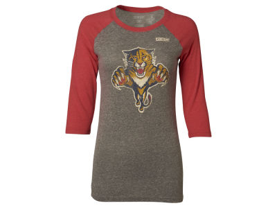 Florida Panthers Reebok NHL Women's Bigger Logo Raglan T-Shirt