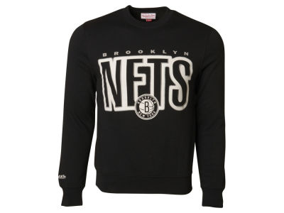 Brooklyn Nets Mitchell and Ness NBA Men's Retro Blur Crew Sweatshirt