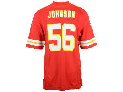 Kansas City Chiefs Derrick Johnson Nike NFL Men's Game Jersey