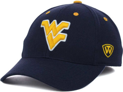 West Virginia Mountaineers Top of the World NCAA Memory Fit Dynasty Fitted Hat
