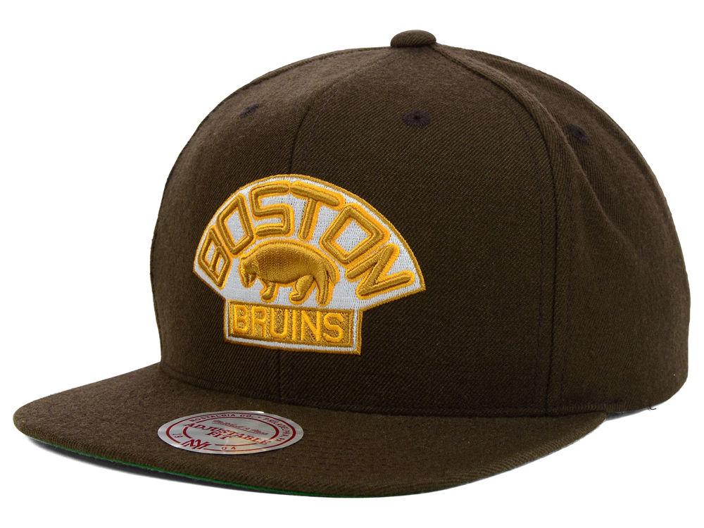 b4eb222dec0 Boston Bruins Mitchell   Ness NHL Wool Solid Snapback Cap