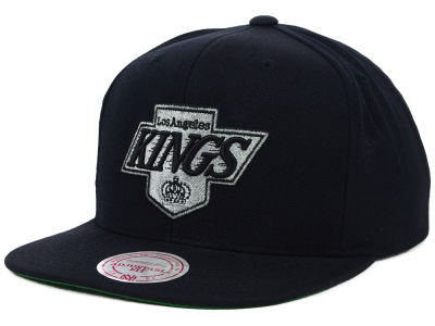 Los Angeles Kings Mitchell and Ness NHL Wool Solid Snapback Cap