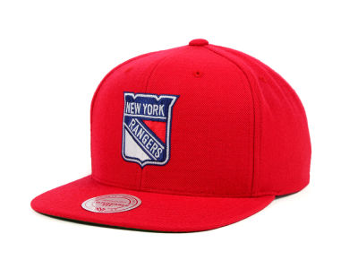 New York Rangers Mitchell & Ness NHL Wool Solid Snapback Cap