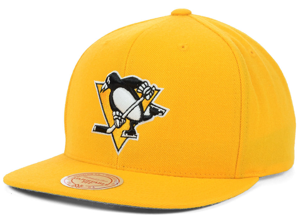 ... hat black 26954 eafdb  coupon for woven tc snapback cleveland cavaliers  pittsburgh penguins mitchell ness nhl wool solid snapback cap ff8baa786f08