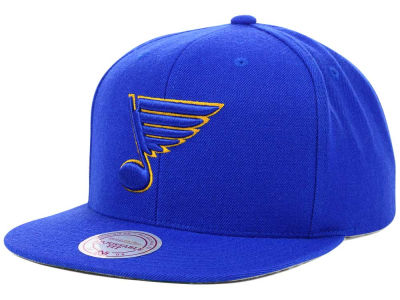 St. Louis Blues Mitchell & Ness NHL Wool Solid Snapback Cap