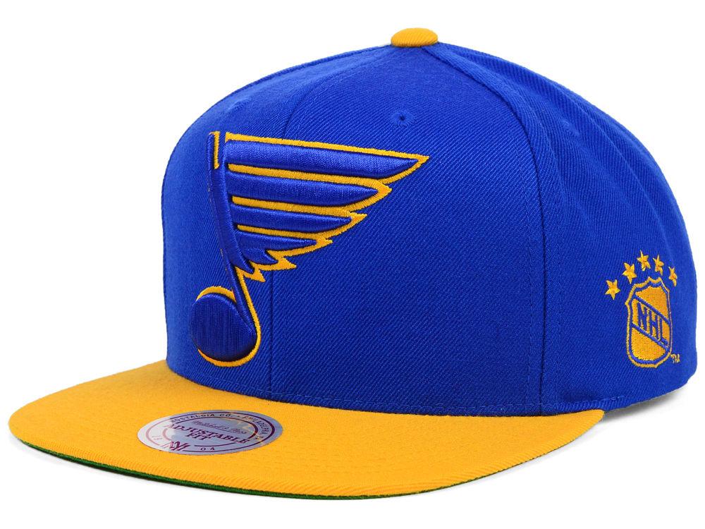 St. Louis Blues Mitchell   Ness NHL XL Logo 2Tone Snapback Cap ... ea90cb47f09f