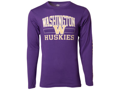 Washington Huskies NCAA Men's Structured Long Sleeve T-Shirt