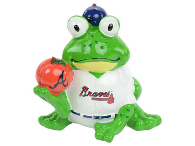 Atlanta Braves Thematic Frog Figure