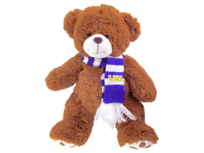 LSU Tigers Cocoa Bear with Scarf