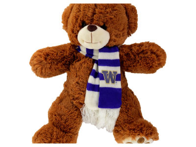 Washington Huskies Cocoa Bear with Scarf