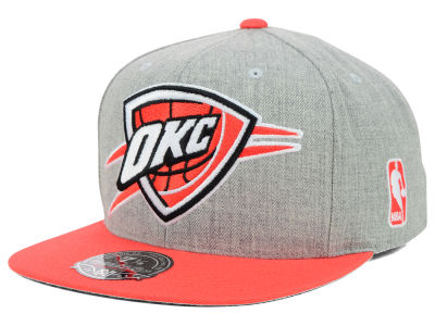 Oklahoma City Thunder Mitchell and Ness NBA 2Tone Heather Fitted Cap