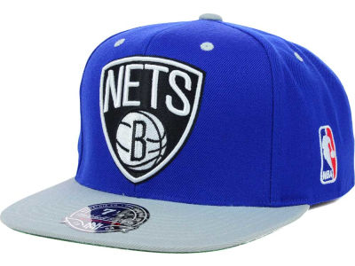 Brooklyn Nets Mitchell and Ness NBA Team Patch Fitted Cap