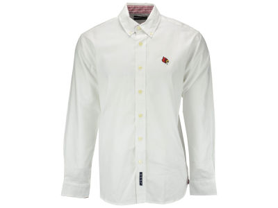 Louisville Cardinals NCAA Men's Gingham Woven Button Up Shirt