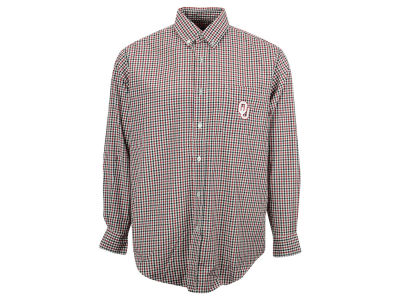 Oklahoma Sooners Vesi NCAA Men's Gingham Woven Button Up Shirt